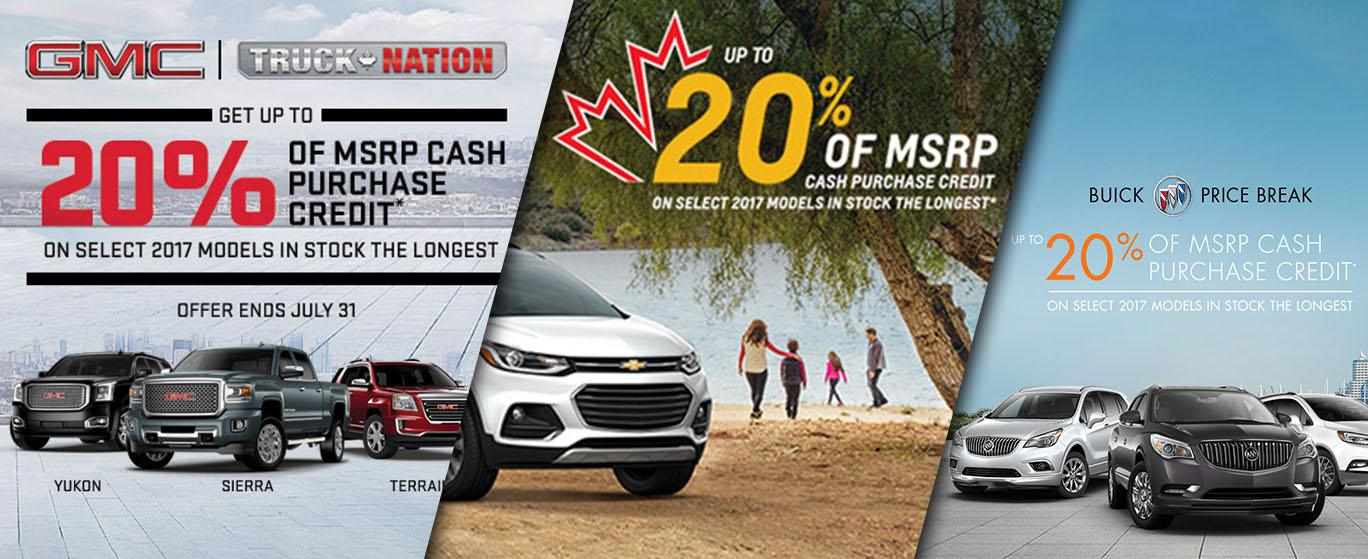 20% of MSRP Cash Credit