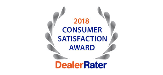2018 Dealer Rater Consumer Satisfaction Award