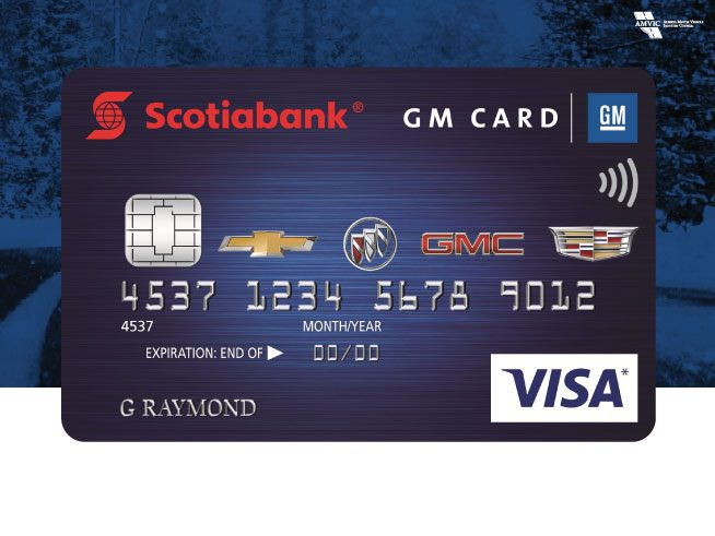 GM Scotia Bank Card. Tire Centre